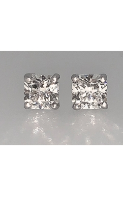 0.99cttw Square Hearts & Arrows Diamond Earrings product image