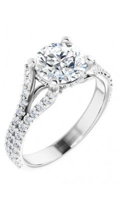 Custom Split Prong 14K Gold Engagement Ring  product image
