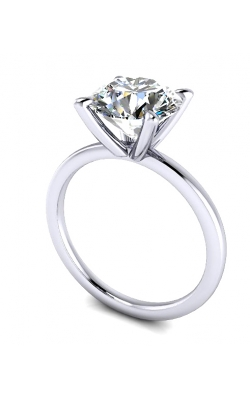 Custom Good Old Gold Solitaire 14K Gold Engagement Ring product image
