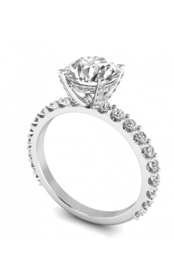 14K Gold Custom Good Old Gold Diamond Engagement Ring product image