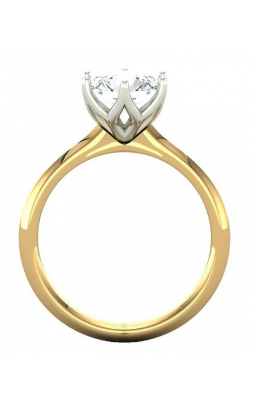 Custom Good Old Gold 14K Gold 6 Prong Solitaire Diamond Ring product image