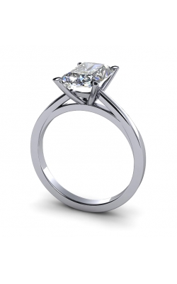 Custom Good Old Gold Solitaire 14K Gold Diamond Ring product image