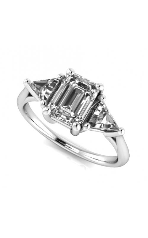Custom Good Old Gold Three Stone Engagement Ring product image