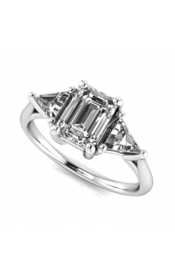 Custom Three Stone Engagement Ring product image