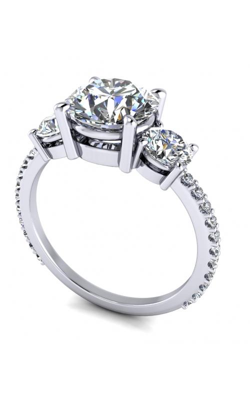 Custom Three Stone Engagement Ring product image