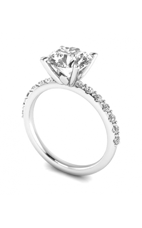 Custom Good Old Gold Diamond Engagement Ring product image