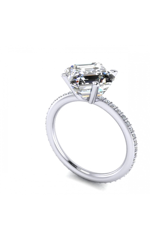 Custom Good Old Gold Ring for Asscher Cut Engagement Ring product image