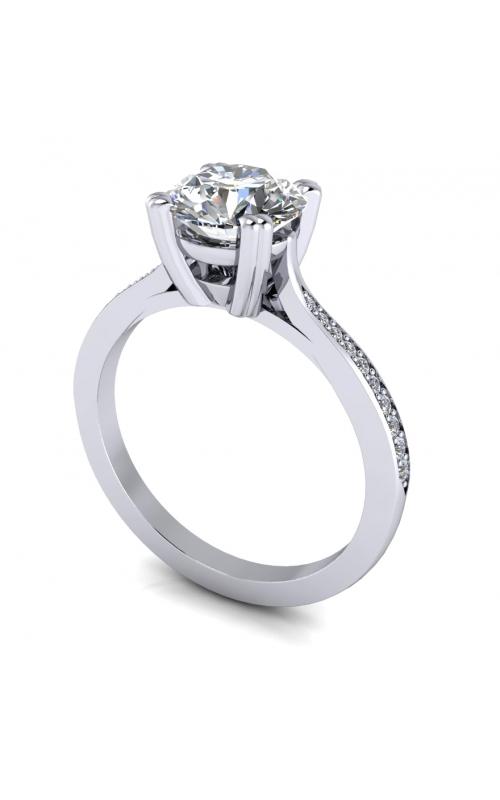 14K Gold Custom Diamond Engagement Ring product image