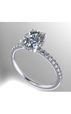 14K Gold Custom Diamond Engagement Ring product image