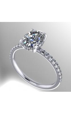 14K Gold Custom Good Old Gold Diamond Engagement Ring product image