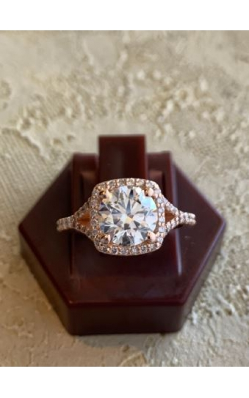 Rose Gold Diamond Engagement Ring product image