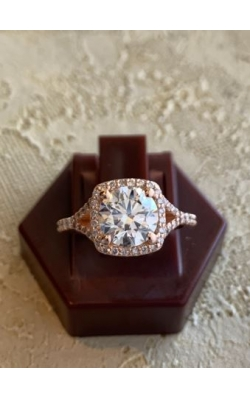 Rose Gold Diamond Engagement Ring product image