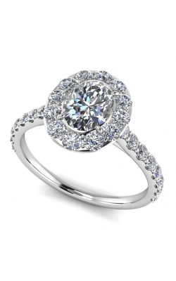 Custom Engagement Ring W. Diamond Halo product image