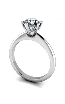 Custom 14K Gold 4 Prong Solitaire Diamond Ring product image