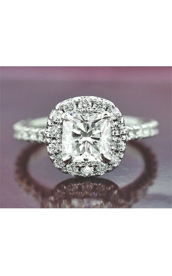 1.23ct G IF Cushion Halo Engagement Ring product image