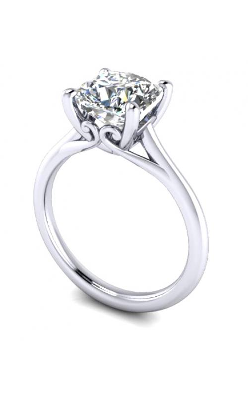Custom Good Old Gold 14K Gold 4 Prong Solitaire Diamond Ring product image