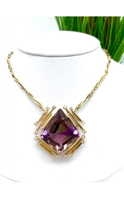 est -- ametrine 14ktyel necklace product image