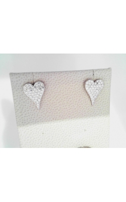 FOUR-925heart-studs-czs product image
