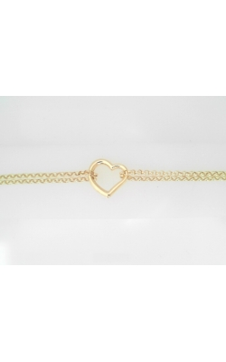 ALE-14KTYGOPENHEARTDOUBLECHAINANKLET product image