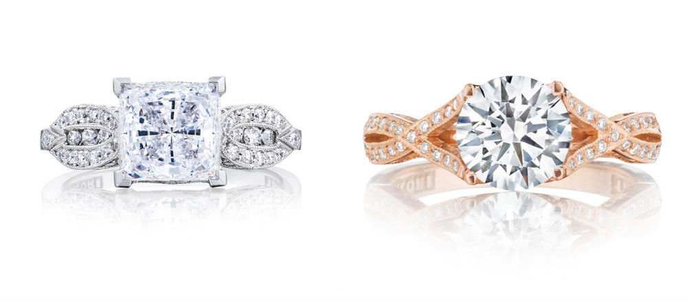 Tacori Ribbon Engagement Rings